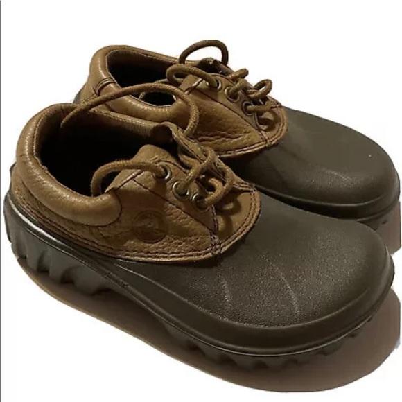 CROCS Shoes | Leather Lace Up | Poshmark